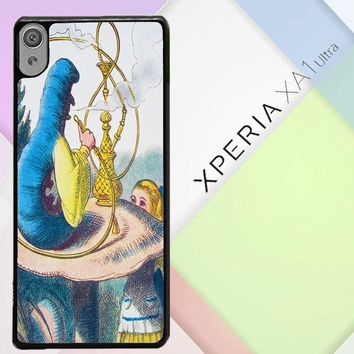 Alice In Wonderland Hookah Caterpillar V1381 Sony Xperia XA1 Ultra Case