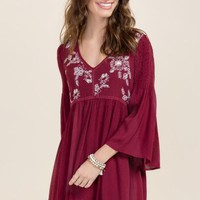 Cambria Embroidered Shift Dress