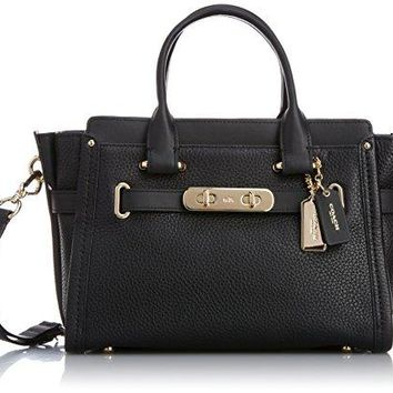 COACH Womens Pebbled Leather Coach Swagger 27