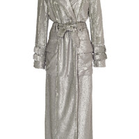 Sequined Belted Trench Coat | Moda Operandi