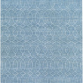 Surya Etching ETC4984 Blue Solids and Borders Area Rug