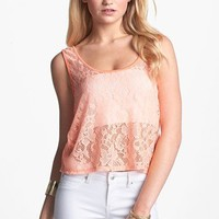 Love Squared Lace Crop Tank (Juniors) | Nordstrom