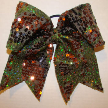 Sequin Camo Cheer Bow
