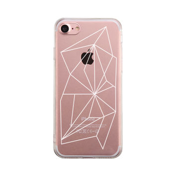 Geometric Pattern Phone Case Cute Clear Phonecase