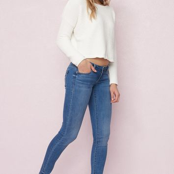 Palermo Blue Low Waist Jegging