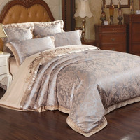 PRINCESS 4-Piece Luxury Bedding Duvet Cover Set - Gold/Silver (KING, QUEEN)