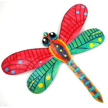 Pink Metal Dragonfly - 11 Inches - Haiti - Croix des Bouquets