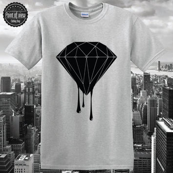 Diamond T shirt Dope Wasted Youth Lil Wayne Melting Diamond Dripping Unisex Tee Ymcmb supply Drake swag tumblr diamond New shirt