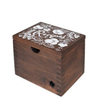 Heirloom Floral Hardwood Recipe Box by RIFLE PAPER Co. | Made in USA