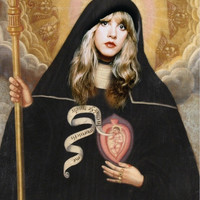 Saint Stevie Nicks Prayer Candle, Patron Saint of the Mystical