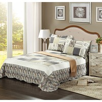 Tache 3 PC Morning Flower Galore Reversible Bedspread Set (SD2876)