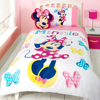 Disney Minnie Mouse Single Bed Set and Cushion | Disney Store