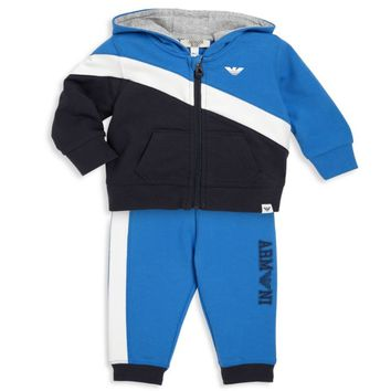 Armani Baby Boys Navy Blue and White Tracksuit
