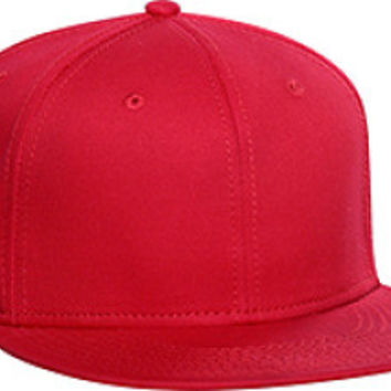 Otto Cap 125-978 - Wool Blend Snapback (Red)