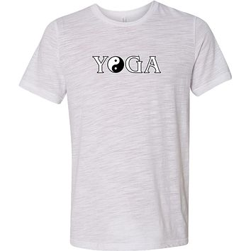 Yoga Clothing For You Yin Yang Yoga Text Burnout Yoga Tee Shirt