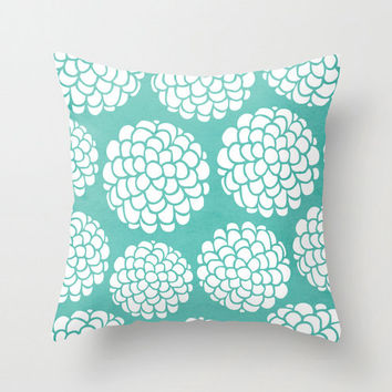 Minimal Blossom Hydrangeas Throw Pillow for your home decor