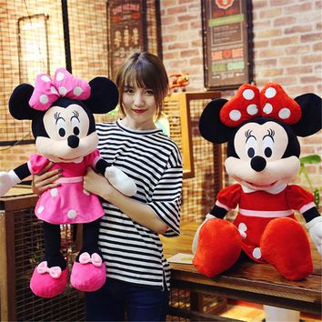 40cm New Lovely Mickey Mouse Minnie Mouse Plush Toys Baby Cute Stuffed Animal Cartoon Figure Doll Kid Christmas Birthday gift
