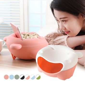 Creative Snacks Dry Fruit Melon Opened Holder Storage Box Nut Plate Tray Garbage Home Table Supplies