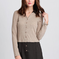 Cup Of Coffee Colorblock Blouse
