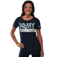 Nike Dallas Cowboys Ladies Team Dedication Tri-Blend T-Shirt - Navy Blue