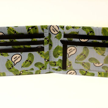 Duct Tape Mens Wallet ~ DILL WITH IT. Bifold wallet,Gifts for men,Men bifold,Slim wallet,Mens gifts,Billfold wallet,Gifts for him,Men wallet