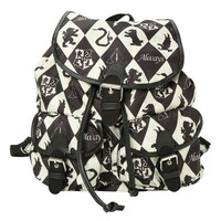 Harry Potter Diamond Houses Medium Slouch Backpack