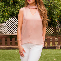 Danica Choker Top - Blush
