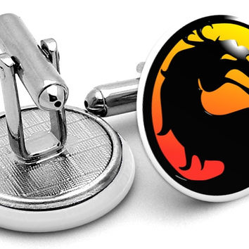 Mortal Kombat Alternate Logo Cufflinks