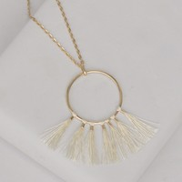 Minimalist Pendant with Tassel-Dreamcatcher Necklace-$28.00 | Hand In Pocket Boutique
