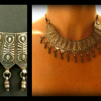 India Tribal Ethnic Silver Choker with bells. Ethnic, Bohemian Accessories