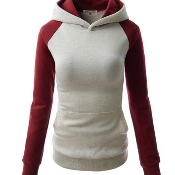 Causal Color Contract Hoodie-3