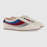Gucci Falacer sneaker with glitter Sylvie Web