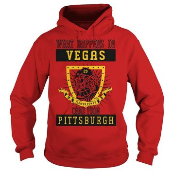 What happens In Vegas flower power came from Pittsburgh shirt Hoodie