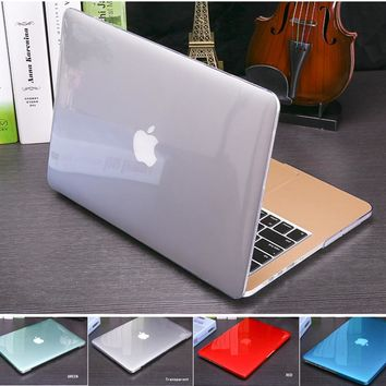 New Crystal Matte case For Apple Mac book Air Pro Retina 11 12 13 15 laptop bag for Macbook Air 13 Case cover