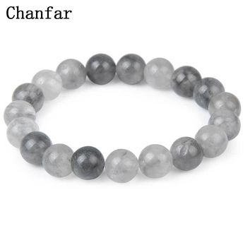Chanfar 10mm beaded Natural Stone Bracelet Tiger Eye Crystal Round Natural Beaded Stretch Lava Stone Bracelet Men Jewelry