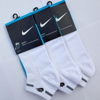 NIKE Men Casual Embroidery Sport No-Show Invisible Socks