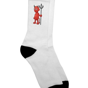 Cute Devil - Halloween Design Adult Crew Socks -