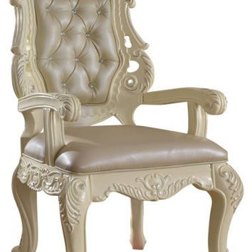 Madrid Dining Arm Chair French Provincial Hand Crafted Design (set of 2)