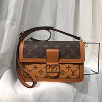 Louis Vuitton LV Women Leather Shoulder Bag Crossbody Satchel