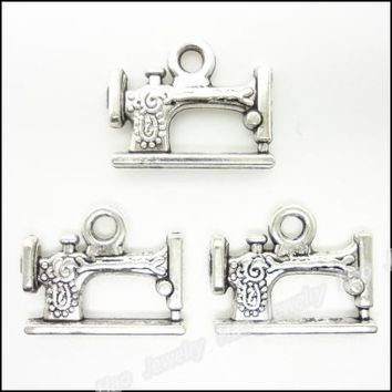 pcs  Vintage  Charms  Sewing  Machine  Pendant  Tibeta