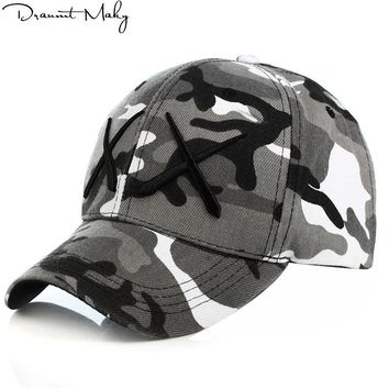 Trendy Winter Jacket Personality style XX Army Camo Baseball Cap Men Tactical Cap Camouflage Snapback Hat For Men High Quality Bone Dad Hat Trucker AT_92_12