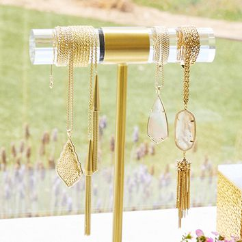 Large T-Bar Jewelry Stand in Brass | Kendra Scott Home