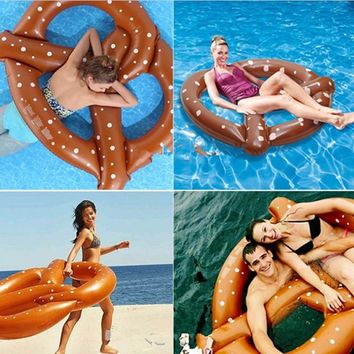 60 inch 3 People Gigantic Inflatable Donut Pool Floats