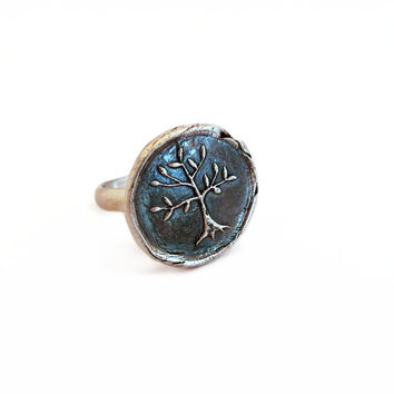 Tree of Life Wax Seal Ring