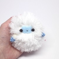 fluffy yeti handmade plush toy