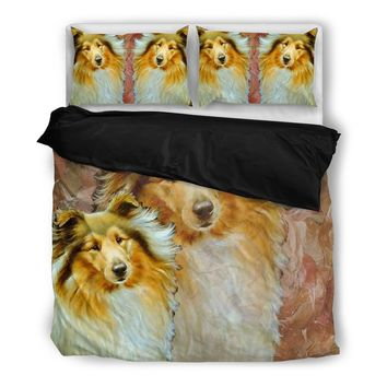 Amazing Collie Dog Print Bedding Set- Free Shipping