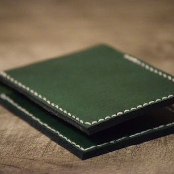 Front Pocket Wallet, Minimalist Leather Wallet, Horween Leather