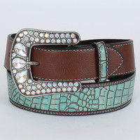 Roper® Ladies' Gator Embossed Strap Belt
