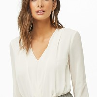 Surplice Long-Sleeve Top