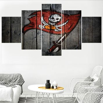 Football Tampa Bay Buccaneers Team Logo Paintings Wall Home Decor Picture Canvas Painting Calligraphy For Living Room Bedroom